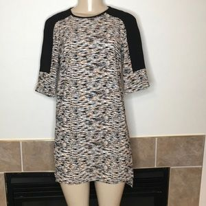 French Connection 3/4 Sleeve Tiger Stripe Dress